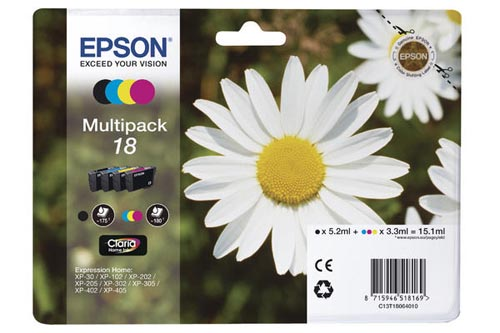 Original  Multipack Tinte BKCMY Epson Expression Home XP-300 Series