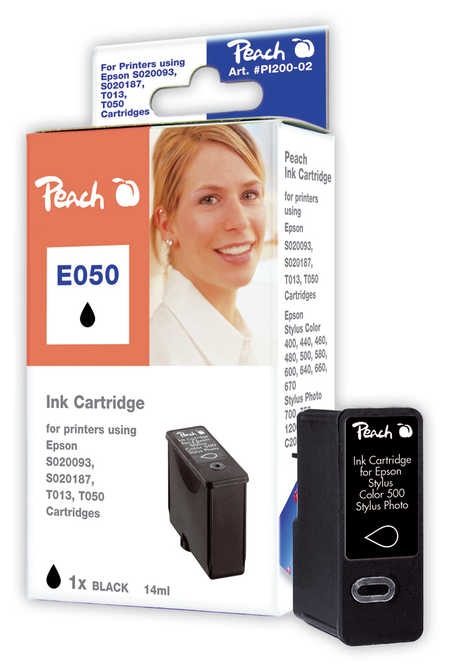 Peach  Tintenpatrone schwarz kompatibel zu Epson Stylus Color 480