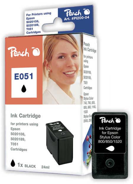 Peach  Tintenpatrone schwarz kompatibel zu Epson Stylus Color 760