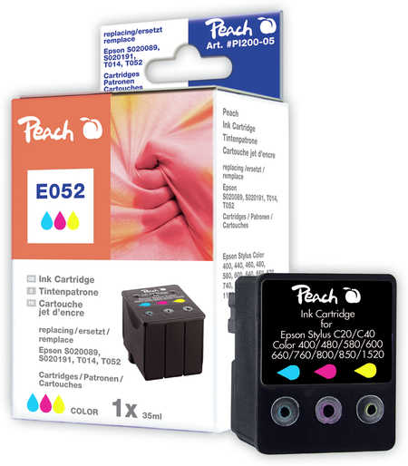 Peach  Tintenpatrone color kompatibel zu Epson Stylus Color 760