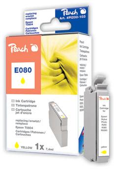 Peach  Tintenpatrone gelb kompatibel zu Epson Stylus Photo PX 810 FW