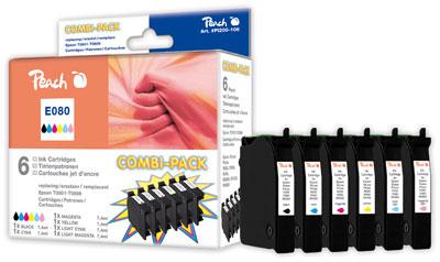 Peach  Spar Pack Tintenpatronen kompatibel zu Epson Stylus Photo PX 810 FW