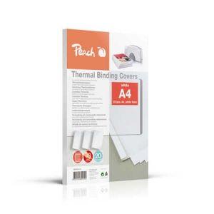 Peach  Thermobindemappe weiss für 40 Blätter (A4, 80g/m2), 20 Stück - PBT304-01