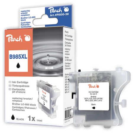 Peach  Tintenpatrone schwarz, XL-Ergiebigkeit, kompatibel zu Brother MFCJ 410 Series