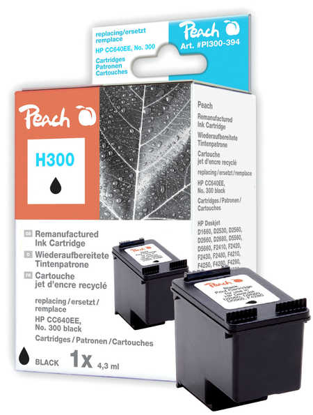 Peach  Druckkopf schwarz kompatibel zu HP DeskJet D 2660