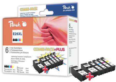 Peach  Spar Pack Plus Tintenpatronen HY kompatibel zu Epson Expression Premium XP-510