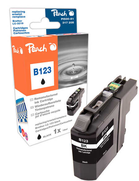 Peach  Tintenpatrone schwarz kompatibel zu Brother MFCJ 4510 DW