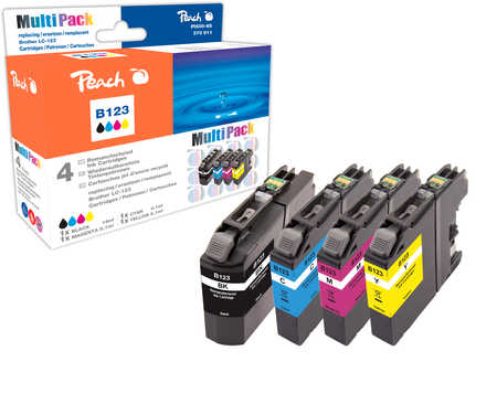 Peach  Spar Pack Tintenpatronen kompatibel zu Brother MFCJ 4510 DW