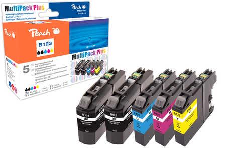 Peach  Spar Pack Plus Tintenpatronen, kompatibel zu Brother MFCJ 4510 DW