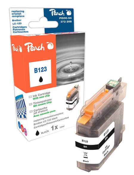 Peach  Tintenpatrone schwarz kompatibel zu Brother MFCJ 650 DW