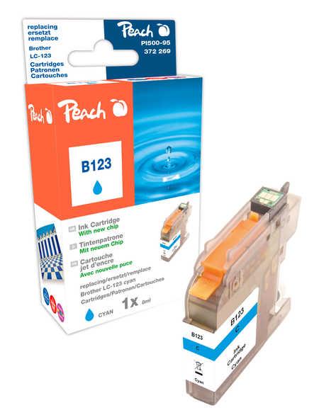 Peach  Tintenpatrone cyan kompatibel zu Brother MFCJ 4410 DW