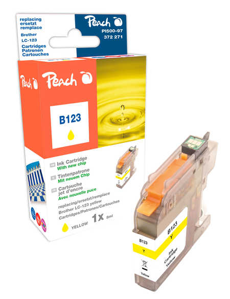 Peach  Tintenpatrone gelb kompatibel zu Brother MFCJ 650 DW