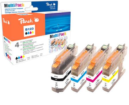 Peach  Spar Pack Tintenpatronen kompatibel zu Brother MFCJ 650 DW