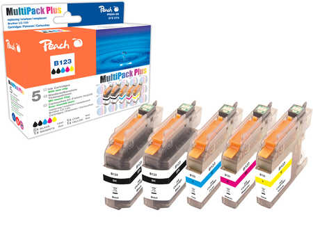 Peach  Spar Plus Pack Tintenpatronen kompatibel zu Brother MFCJ 650 DW