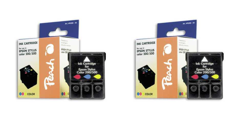 Peach  Doppelpack Tintenpatronen color kompatibel zu Epson MJ 610 CS