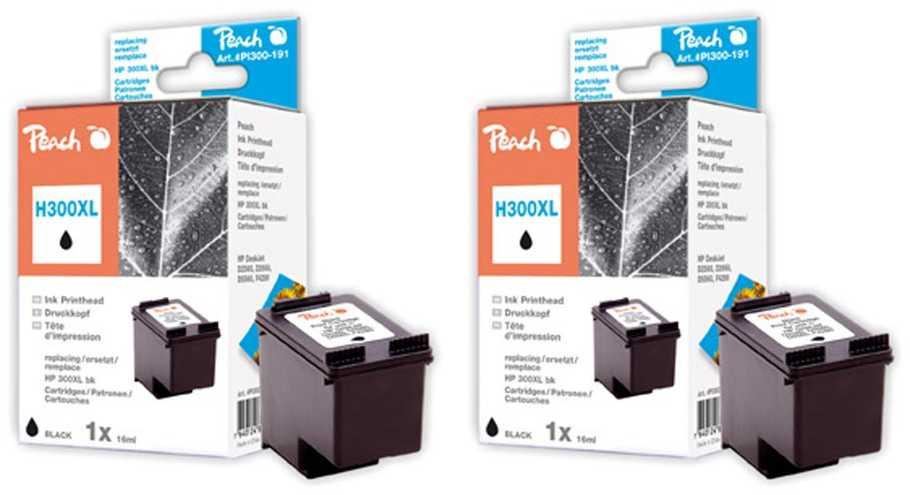 Peach  Doppelpack Druckköpfe schwarz kompatibel zu HP DeskJet D 2660