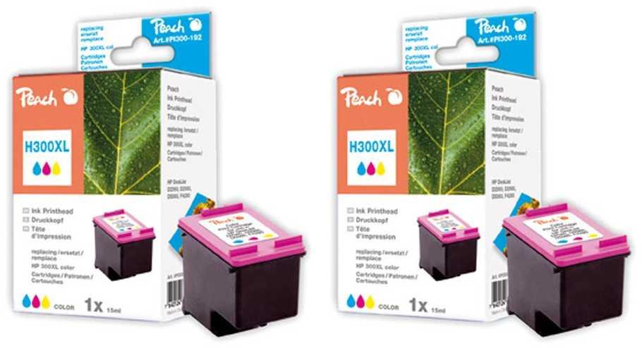 Peach  Doppelpack Druckköpfe color kompatibel zu HP DeskJet D 5568