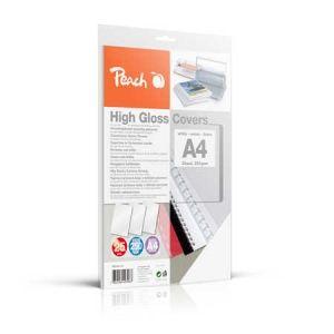 Peach  Einbanddeckel hochglänzend, 250 g/m2, A4, weiss, 25 Blatt