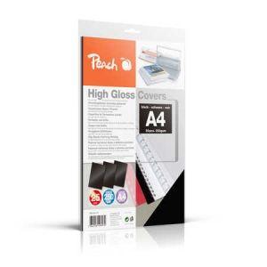 Peach  Einbanddeckel hochglänzend, 250 g/m2, A4, schwarz, 25 Blatt