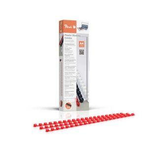 Peach  Binderücken 6mm, für 25 Blatt A4, rot, 100 Stück, PB406-03