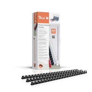 Peach  Binderücken 12mm, für je 95 Blatt A4, schwarz, 100 Stück - PB412-02
