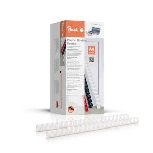 Peach  Binderücken 16mm, für je 145 Blatt A4, weiss, 100 Stück - PB416-01