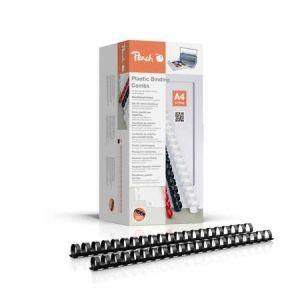 Peach  Binderücken 16mm, für je 145 Blatt A4, schwarz, 100 Stück - PB416-02