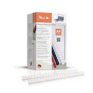 Peach  Binderücken 20mm, für 175 Blatt A4, weiss, 100 Stück, PB420-01