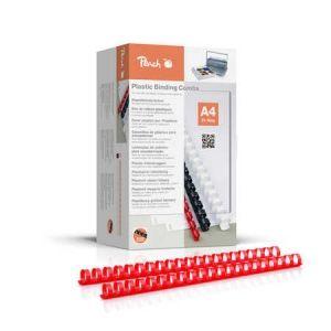 Peach  Binderücken 20mm, für 175 Blatt A4, rot, 100 Stück, PB420-03