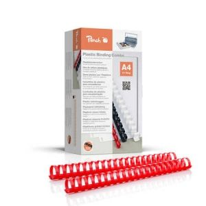 Peach  Binderücken 32mm, für 310 Blatt A4, rot, 50 Stück, PB432-03