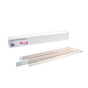 Peach  PB500-01 Abheftstreifen für Drahtbinderücken A4, 31 Stanzlöcher, 100 Stück, transparent