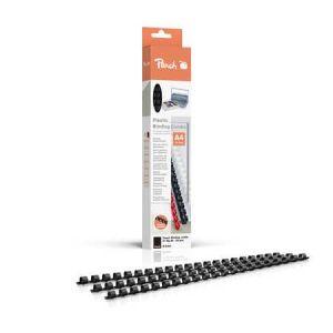 Peach  Binderücken 8mm, für 45 Blatt A4, schwarz, 25 Stück, R-PB408-02