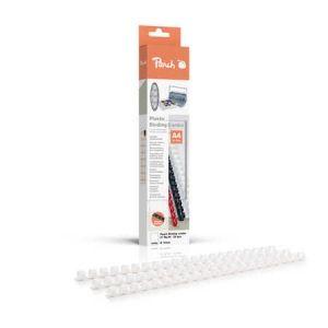 Peach  Binderücken 10mm, für 65 Blatt A4, weiss, 25 Stück, R-PB410-01