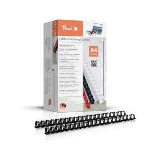 Peach  Binderücken 20mm, A4, schwarz, 25 Stück, R-PB420-01