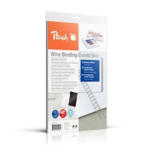 Peach  Wire Binding Combi Box - 6mm - PW064-07- 45 Blatt
