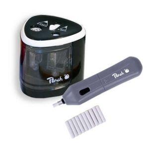 Peach  Vorteils-Set elektrischer universal Anspitzer + Radierer